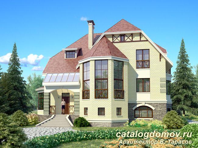 Проект кирпичного жилого дома № e 374 1k