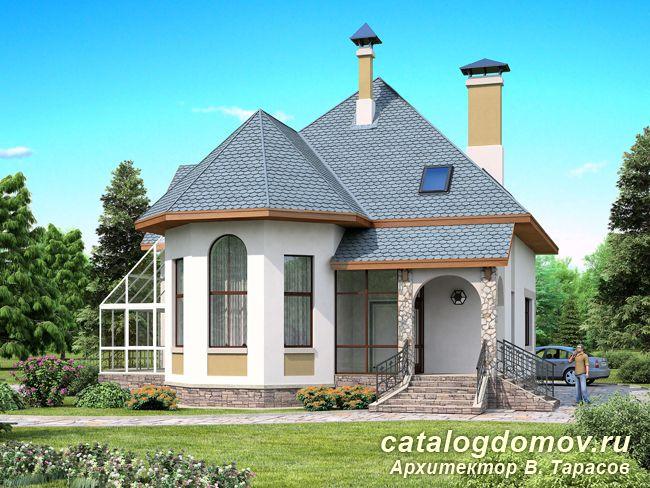 Проект дома с террасой № f 184 1p 60a