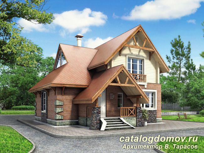 фото кирпичных домов двухэтажных с гаражом