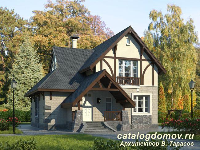 Проект двухэтажного дома № h 145 3k