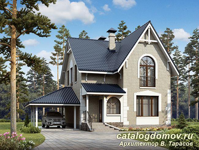 Проект двухэтажного дома AS-152-2 с мансардой и гаражом из