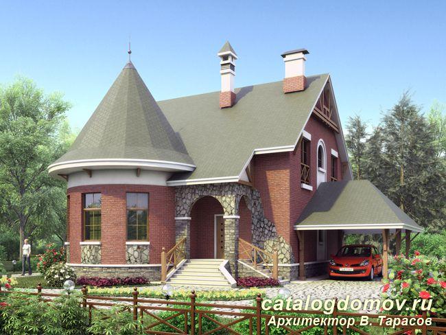 Проект загородного дома из кирпича l