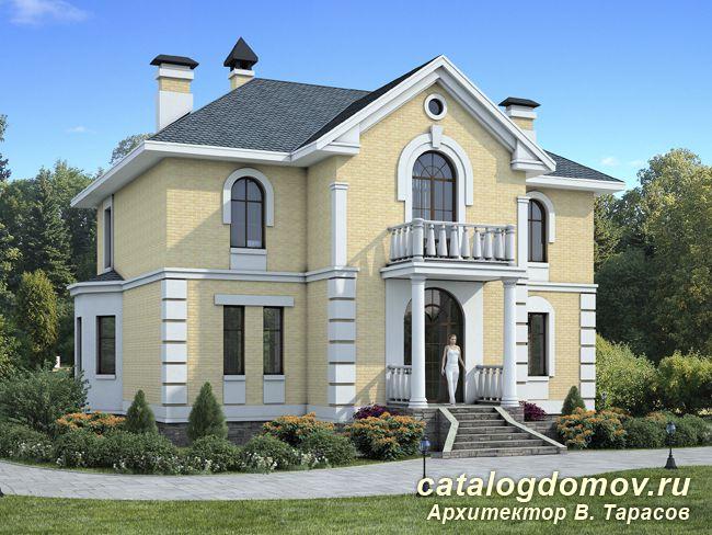 Готовый проект двухэтажного дома № l